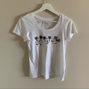 Black and White Disney Mickey Mouse Tee Shirt